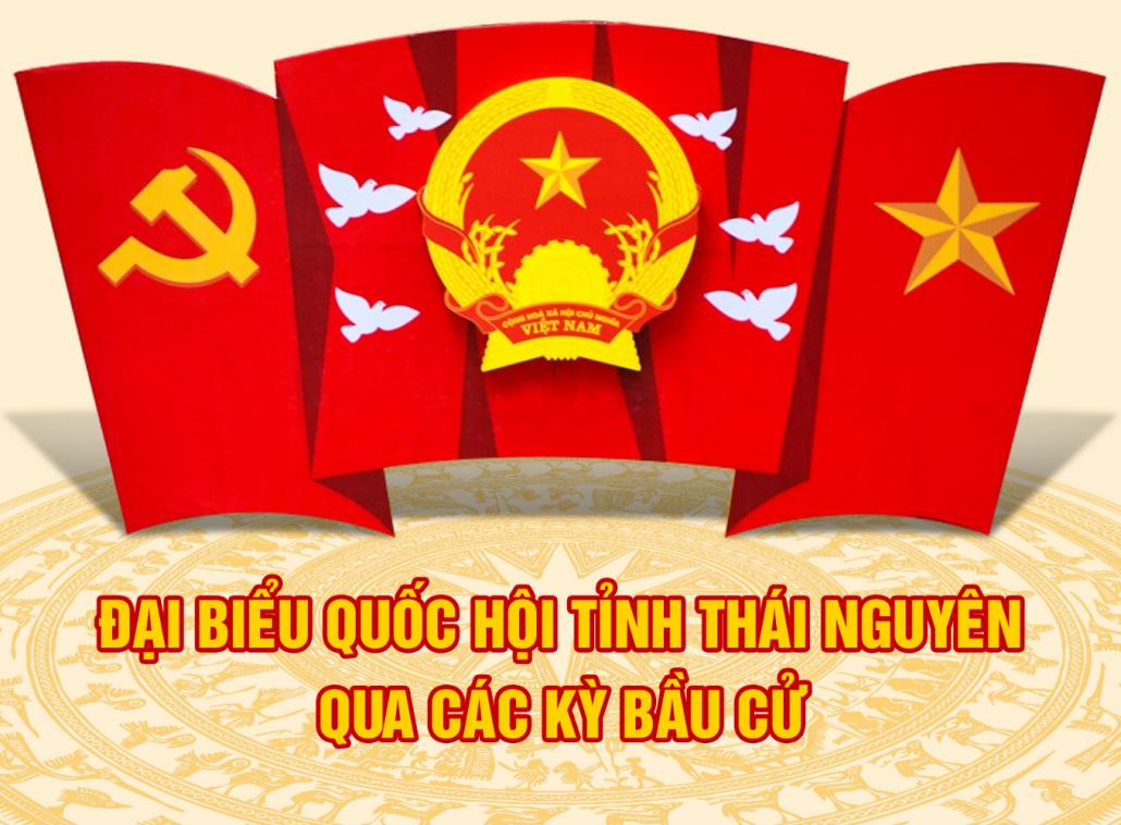 [Infographic]: Đại biểu Quốc hội tỉnh Thái Nguyên qua các kỳ bầu cử