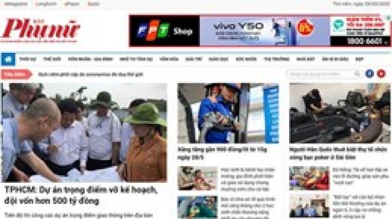 Báo Phụ nữ TP.HCM bị phạt 55 triệu đồng, đình bản báo điện tử 1 tháng