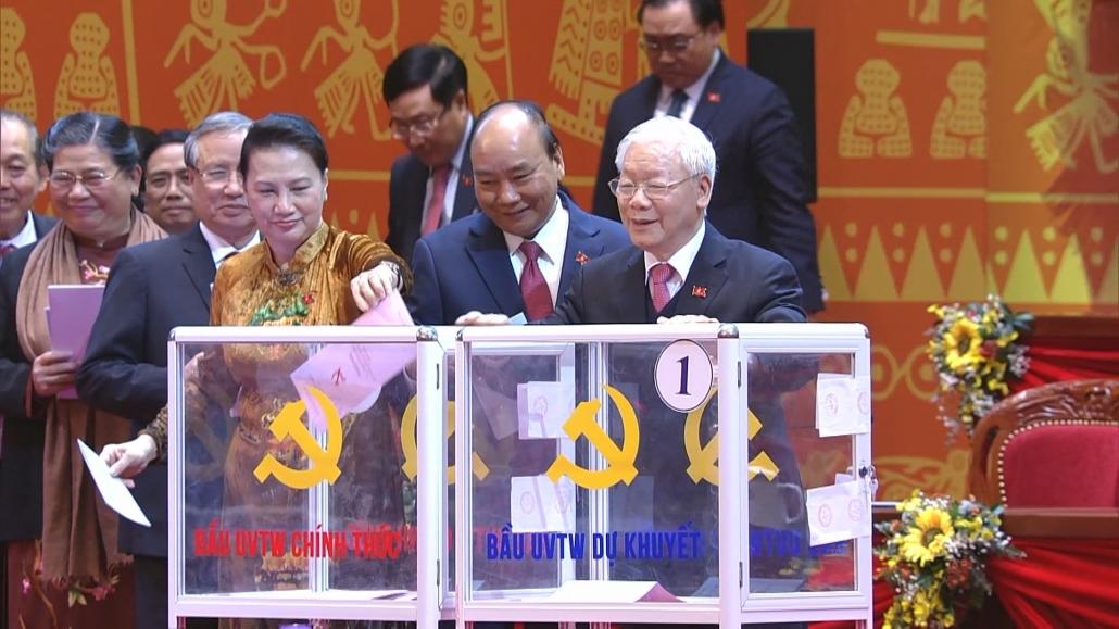 Hội nghị lần thứ nhất BCH  Trung ương Đảng khóa XIII bầu các chức danh lãnh đạo chủ chốt