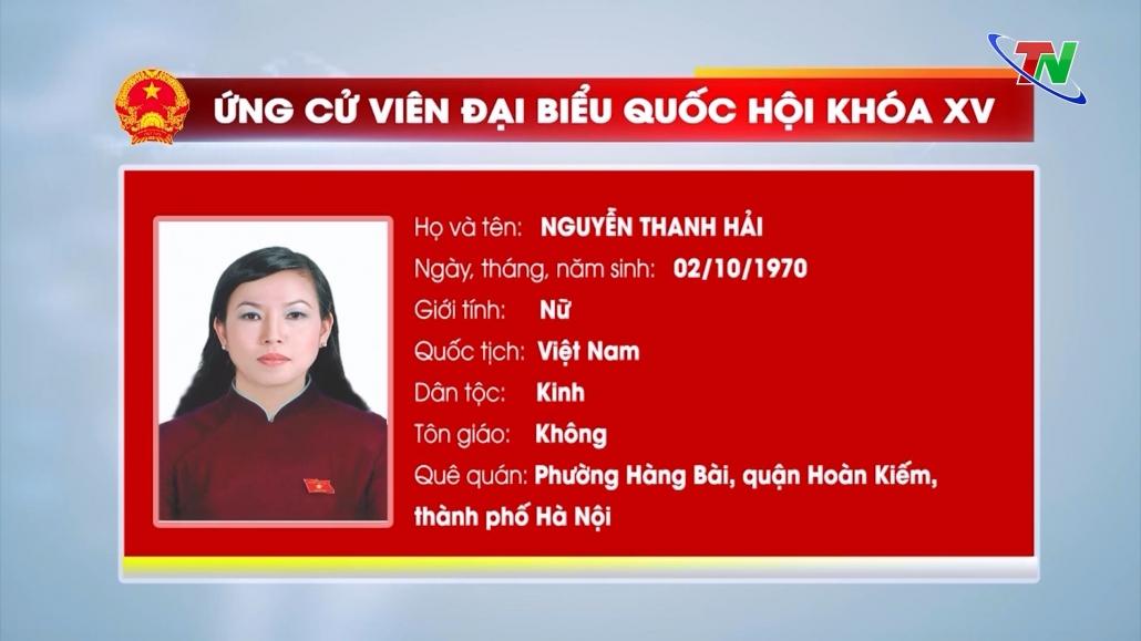 Danh sách những người ứng cử đại biểu Quốc hội khóa XV tại tỉnhThái Nguyên
